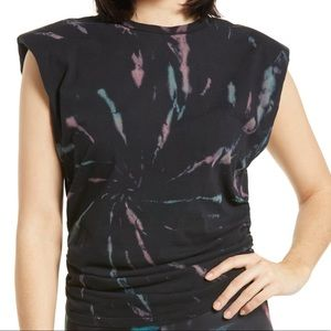 AFRM NWOT Billie Side Ruched Tie Dye Tank Top